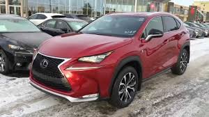lexus nx200t uk new red 2015 lexus nx 200t awd f sport review youtube