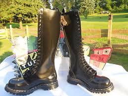 s boots 20 t u k gripfast tuk 20 eye steel cap black leather