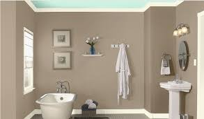 wall paint ideas for bathrooms bathroom bathroom wall color sea lilly by valspar
