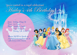 Princess Themed Birthday Invitation Cards Custom Personalized Disney Princess Birthday Invitation 8 00