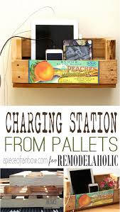 Making A Wooden Desktop by Remodelaholic Make A Charging Station From Pallet Wood Scraps