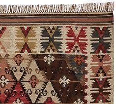 Kilim Indoor Outdoor Rug For Wall Hanging In Dining Recycled Yarn Kilim Indoor