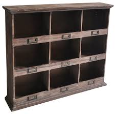 Desk Cubby Organizer 9 Cubby Wooden Wall Organizer Rustic Wall Organizers By Cheungs