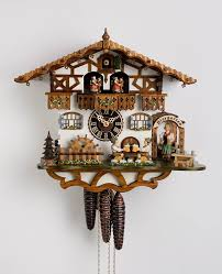 Blue Cuckoo Clock Amazon Com Chalet Cuckoo Clock 1 Day Bavarian With Beer Drinkers