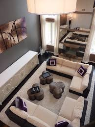u shaped sectional living room modern with modern leather