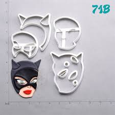 catwoman design cookie cutter set custom made 3d printed fondant