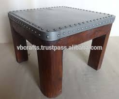 Industrial Style Coffee Table Industrial Style Coffee Table Metal Top And Wood Base Buy