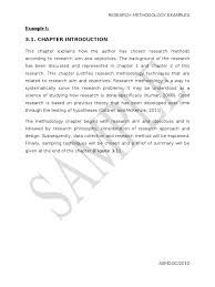 Example Of Research Essay Research Paper Example Chapter 1