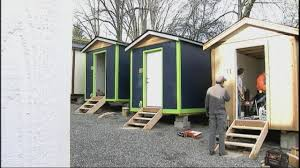 seattle u0027s first tiny house village for homeless to opens kiro tv