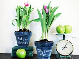 How To Decorate A Pot At Home How To Make Spring Chalkboard Pots Hgtv