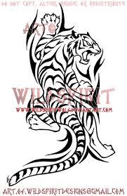 climbing tribal tiger design by wildspiritwolf on deviantart