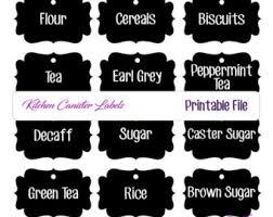 kitchen canister labels kitchen labels brush font black white printable kitchen