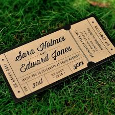 ticket wedding invitations rustic recycled ticket wedding invitation just the ticket