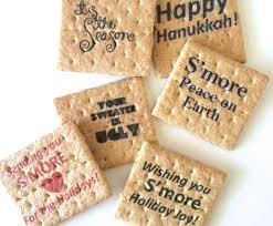 printed graham cracker squares perfect diy smores bar holiday