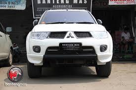 All New Pajero Sport List Kap Mobil Depan Molding Chrome aksesoris pajero sport accessories by banteng