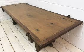 handcrafted reclaimed barn door coffee table french countryside