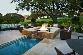 Corner Fire Pit by Spectacular In Ground Fire Pit And Seating Area U2013 Decohoms