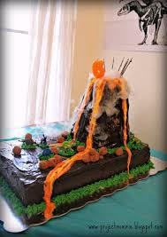 pdf caution volcano cake ahead sign dinosaur