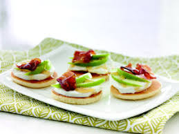 healthy canapes recipes goat cheese apple and bacon canapés recipe
