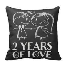2nd wedding anniversary 2nd wedding anniversary pillows decorative throw pillows zazzle