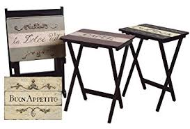 tv tray tables amazon amazon com cape craftsman tv tray set with stand cucina set of 4