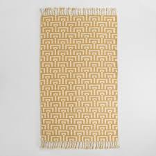 Yellow Outdoor Rug Yellow And Ivory Flatweave Flynn Indoor Outdoor Rug World Market