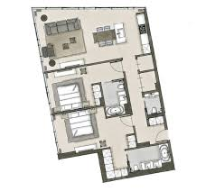 Two Bedroom Floor Plan Two Bedroom Residence Type Oosten