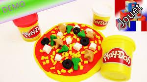 pate a modeler cuisine gigantesque pizza en pâte à modeler play doh jouer à faire de la