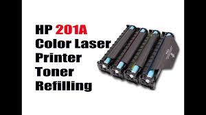 hp color laserjet toner refilling youtube