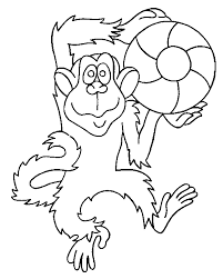 monkey coloring animals town free monkey color sheet