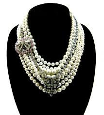 jewelry statement necklace images Statement necklace pearls and rhinestones jpg