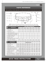 Intex Ultra Frame Pool 14x42 Save These Instructions Parts Reference English Page 4 Intex