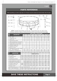 Intex Pools 18x52 Save These Instructions Parts Reference English Page 4 Intex