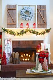 fantastic fireplace christmas decoration with small christmas tree
