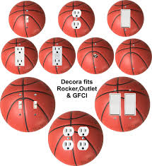 Bedroom Wall Lights With Rocker Switch Coloriffic Basketball Wall Plate Switch Outlet Decora Toggle Blank