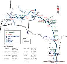 Map Of Missouri River Missouri U0027s Eleven Point River Canoe Float Fishing U0026 Camping