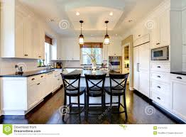 grande cuisine grande cuisine moderne de luxe blanche image stock image du