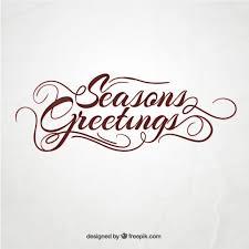 seasons greetings vector free