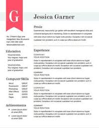 unique resumes templates simple resume cover letter template