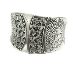 sterling silver cuff bangle bracelet images Sterling silver cuff bracelet ethnic silver by silvershapes on zibbet jpg