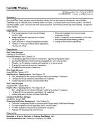 Real Estate Resume Templates Property Management Resume Property Management Resume Samples