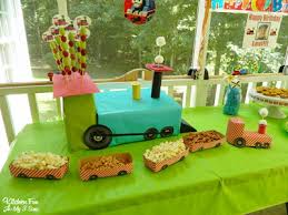 train birthday party kitchen fun with my 3 sons
