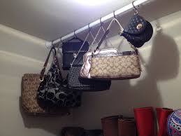 Designer Shower Curtain Hooks Purse Storage Using Shower Curtain Rod And S Hooks So Functional