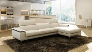 White Italian Leather Sofa by Casa 990a Modern White And Grey Italian Leather Sectional Sofa