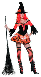 red witch halloween costume orange and black halloween witch costume for women adults