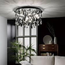 Chrome Ceiling Lights Uk Diyas Uk Class Il Il50385 Chrome Black Twenty Light