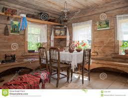 Maison En Bois Interieur Intérieur De Vieille Maison En Bois Rurale Photo Stock éditorial