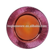 wedding plates for sale underplate glass wedding sale restaurant purple charger plate