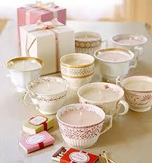 tea cup candle teacup candles debbiedoos