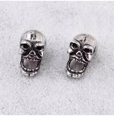 skull stud earrings buy affordable skull earrings at rebelsmarket